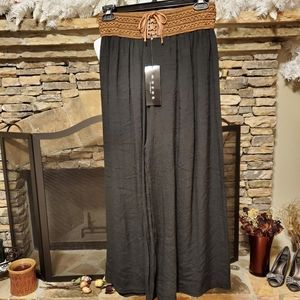 Mid-Rise Wide-Leg  Pull-On Pants for Women